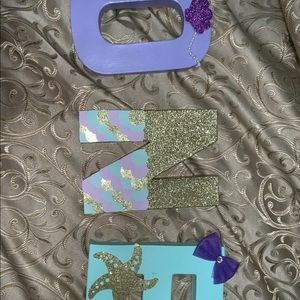 Mermaid ONE birthday letter props
